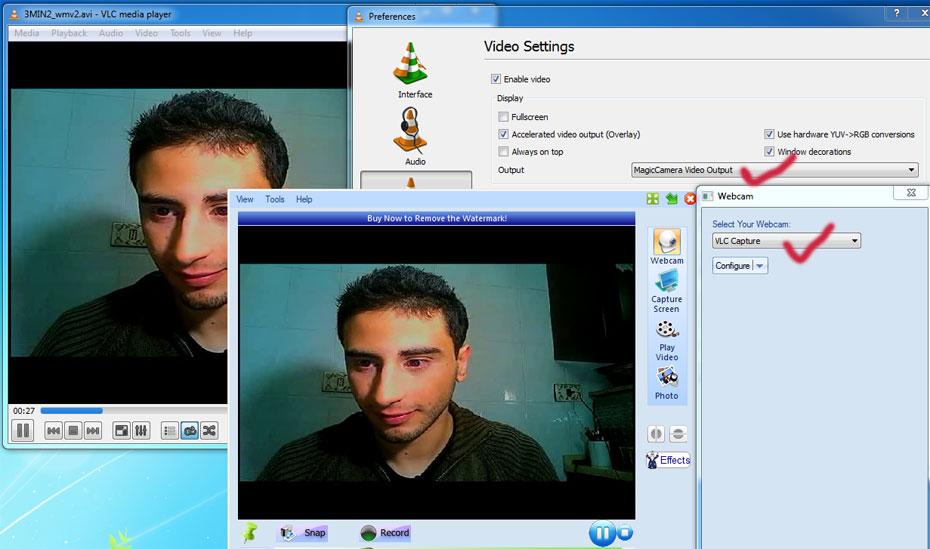 VLC2VCam plugin - Turn VLC to a virtual webcam(VCam) and